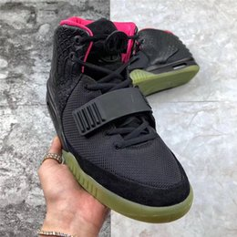 $enCountryForm.capitalKeyWord Australia - Authentic Air Yeezy2 Pure Platinum Red October Solar Red Men Basketball Shoes Sneakers With Original Box 508214-010 508214-660 508214-006