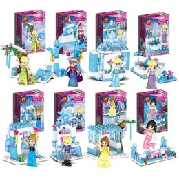 $enCountryForm.capitalKeyWord Australia - Put together the brand 37051 children's puzzle building block toy Ice and Snow Princess combination series into 8-in-1 package