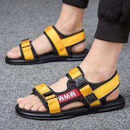$enCountryForm.capitalKeyWord Australia - Unisex Summer Sandals Men Gladiator Sandals Flip Flops Male Beach Shoes Slippers Slides Flat Shoes Walking Sandalias Hombre