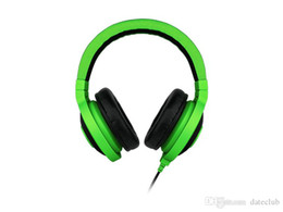 headphones packaging Australia - Best Quality 3.5mm Razer Kraken Pro Gaming Headset with Wire control headphones in BOX for IOS Android system most popular without package