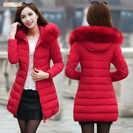 korean long scarves Australia - Sale Womens Hot Coat Korean Zipper Version Parka Cotton Padded Ladys Thicker Cotton Jacket Down Long 1509