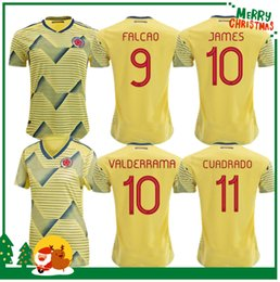 colombia jerseys Australia - 19 20 Colombia JAMES FALCAO VALDERRAMA Soccer Jersey Colombia Club Home away Football Short 2019 womanFootball Shirt