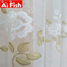fresh flower wholesalers Australia - Romantic Chinese rural fresh orchid flower embroidered curtain lace for living room bedroom bay window finished product M151-50