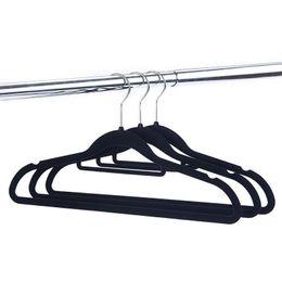 Clothes Hangers Black Australia - Thickening Flocking Coat Hangers Home Multi Function Couture Non Slip Clothes Racks Velvet Black High Grade 0 9hf Ww p