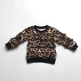 $enCountryForm.capitalKeyWord Australia - fall winter black leopard ruffles T-shirt top ruffle long sleeves shirt icing raglans t-shirt milk silk cotton baby girl clothes