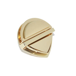 China Gold Metal Clasp Turn Lock Twist Lock for DIY Handbag Shoulder Bag Purse Hardware Bag Luggage Accessories Parts 53x52.5mm cheap bag hardware wholesale suppliers
