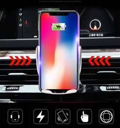 Wholesale Wireless Car Charger S5 Automatic Clamping Fast Charging Phone Holder Mount in Car for iPhone xr Huawei Samsung Smart Phone