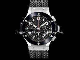 44mm Ceramic Bezel Australia - 2019 High Quality Soft Rubber Strap Sport Men's Watches High Quality Ceramic Bezel 44MM Fashion Japanese VK Quartz Chronograph Wristwatches