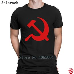 hammer sickle NZ - Communism Hammer And Sickle Tshirts Plus Size 3xl Famous Leisure Print T Shirt For Men Spring Hiphop New Fashion Cotton Male