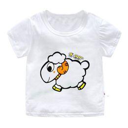 60ab24271ac6 Summer Kids Short Sleeve T-shirt Cartoon Animal Print Children Clothes Baby  Boys Cotton Tops Tees Toddler Cute T Shirt For Girls