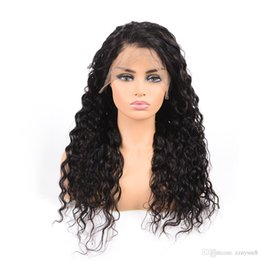 $enCountryForm.capitalKeyWord Australia - 24inch Pre Plucked Bleached Knots 250% density Real Indian Remi Human Hair Water Wave Lace Front Wig