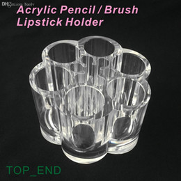 crystal clear plastic storage boxes Australia - Wholesale-Free Shipping,Crystal Clear,Acrylic Pen Pencil Lipstick Make-up Brush Holder,12 Compartments Storage Box,Dressing Desk,Hotel