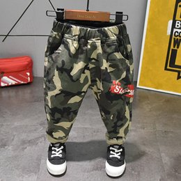 Tutu Sizes For Kids Australia - size:90~130 cotton children harem pants for baby boys camouflage trousers kids child casual pants blue green army