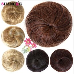 Rollers For Hair Australia - Girls Brown Blonde Bun Hair Chignon Synthetic Donut Roller Hairpieces High Temperature Fiber for Women Donut Chignon