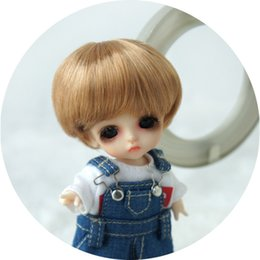 White Shorts Australia - Jusuns Enfant Baby Short Cut Doll Wig 3-4inch Doll Hair Lati White Doll Accessories 9 Colors Available D28053