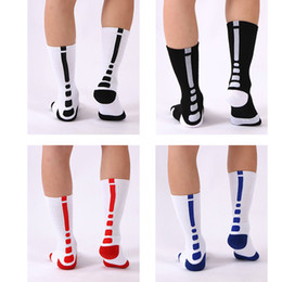 sports sock huf NZ - Elite Basketball Socks Thick Terry Towel Bottom Football Sports Crew Stockings Knee High Athletic Men Socks Breast Cancer Long Sock