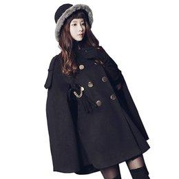 e7e0c2d7f9f23 Abrigos de imitación de cachemira para las señoras Mujer invierno Capa de lana  Chaqueta Mid-length Shawl suelto Para mujer OUTWEAR Batwing Abrigo Ropa de  ...