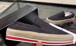$enCountryForm.capitalKeyWord Australia - ss19 2019 spring summer Designer mens BLACK BLUE Denim Fabric canvas Trainer Shoes slip on Low Top Luxury Fashion Sneakers