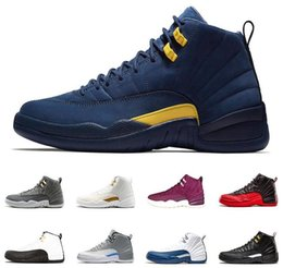 Scarpa da basket uomo 12 Gamma Blue Winterized Gym Red Michigan Bordeaux 12s bianco nero The Master Flu Game taxi XII sneaker sportivi in Offerta