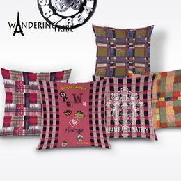 $enCountryForm.capitalKeyWord Australia - Nordic Geometric Throw Pillow Case Boho Stripe Home Decorative Cushion Cover Pink Decor Living Room Pillows Cushions Covers