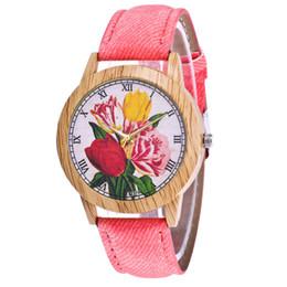$enCountryForm.capitalKeyWord UK - Sehen Fashion Flower Print Quartz Wrist Watch Leather Strap Women Watch Analog Quartz Round For Women