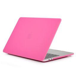 Cubierta de la caja protectora de plástico duro mate para Macbook Air Pro Retina 11 12 13 15 pulgadas Laptop Crystal Frosted Rubberized Cases Shell Durable