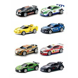 r c electric Australia - Sport R C Racer Coke Can Car Mini Radio Remote Control Vehicle RC Micro Racing Toys Small Porket 2 Frequency Gifts for Children MX200414