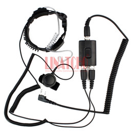 Kenwood tactical headsets online shopping - kenwood good performance two way radio microphone heavy duty PTT neck headset walkie talkie radio tactical throat mic