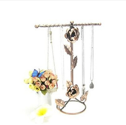 $enCountryForm.capitalKeyWord Australia - 3style Originality rose Jewelry mannequin Display Stand Holder Earring Display Metal Frame Necklace Holder Accessories Storage 1pc C175