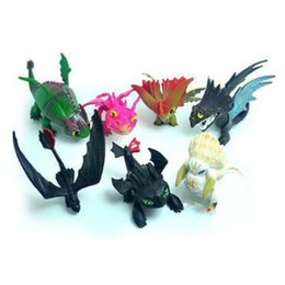 Dragons train online shopping - 7pcs set How To Train Your Dragon PVC Model Toothless Skull Gronckle Night Fury Dragon Action Figure Novelty Items CCA11287 set