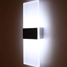Venta al por mayor de 3W / 5W / 6W llevó la lámpara de pared de acrílico AC85-265V luces montadas en la pared de la sala de estar Dormitorio Pasillo Wandlamp Iluminación interior