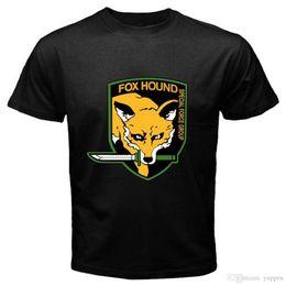 $enCountryForm.capitalKeyWord Canada - Men Fashion FOX HOUND FOXHOUND Special Force Metal Gear Solid Men's Black T-Shirt Size S-3XL Short Sleeve Crew Neck Fashion