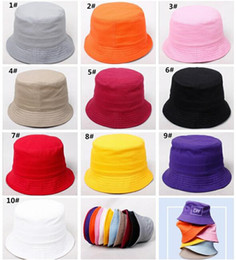 $enCountryForm.capitalKeyWord Australia - 50pcs Children Plain Bucket Hat Kids Blank Fishing Hats Boy Girl Fisherman Cap Custom Logo Color Baby Beach Sun Visor Gift J165