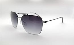 Screw Mirror NZ - Quality superlight 048handmade big-rim sunglasses NO-screw quality alloy UV400 gradient sunglasses60-19-145full-set cases OEM