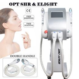 Miglior rimozione dell'acne IPL macchina depilazione 7 filtri dluce vascolari 600000shots macchina di rimozione opt spedizione libera del laser SHR in Offerta