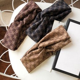hair bands designer Canada - New Brand cotton Turban Headband for Women and Men Classic Luxury Designer Winter Spring Letter Hair bands Headbands Headwrap