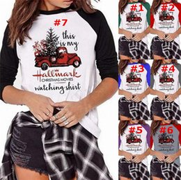 Short long women blouSe online shopping - 2020 Christmas Shirt This is my Hallmark Christmas Movies Watching Letter Print Long Sleeve O neck T shirts Women Blouse Top Tee A112001