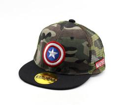 Chinese  2019 batman Kids cap camouflage Snapback Hiphop Superman Baseball Caps For Children Flat Anime mesh Hat Boy Girls camo Hats 50 to 54cm manufacturers