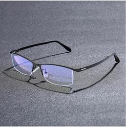 Glasses eyebrows online shopping - Eyebrow Glass Frame Men s Metal Half Frame Glass Frame TR90 Leg Anti Blue Glasses