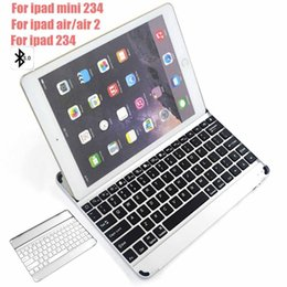 Discount backlight keyboard for tablet - For iPad Air Air2  mini 234   ipad 234 Wireless Bluetooth Smart Backlight Keyboard Cases Aluminum Alloy Ultra thin Table