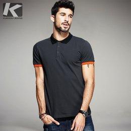Dark Color Shirt Men Australia - Kuegou Summer Mens Polo Shirts Patchwork Dark Grey Color Brand Clothing Man 'S Short Sleeve Clothes Male Wear Slim Fit Tops 5059