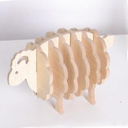 $enCountryForm.capitalKeyWord Australia - Table Cup Mat MDF Coasters Creative Place Mat Office Supplies Coffee Cup Mat Home Decor DIY Handmade Sheep Shape Gift ZJ0023