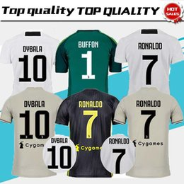 c730ae8ea RONALDO 3RD 2019 Soccer Jersey 18 19 JUVE 2018 Home Away BLACK DYBALA  HIGUAIN Football Shirt CRISTIANO MANDZUKIC D. Costa