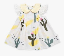$enCountryForm.capitalKeyWord Australia - Baby Girl Clothing Dress Short Lace Sleeve Flower Print Design O-neck Summer Kids Boutique Clothes Dress B11
