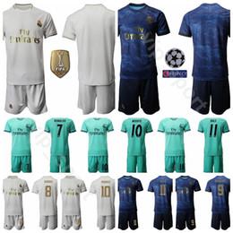 Soccer jerSey number kit online shopping - 19 Real Madrid Soccer Eden Hazard Jersey Set Luka Modric Gareth Bale Football Shirt Kits Uniform Custom Name Number
