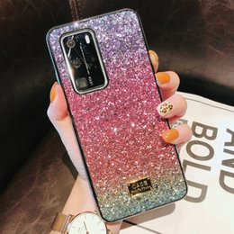 iphone rhinestones phone cases NZ - For Huawei P40 iPhone 11 Pro Xr Xs Max 6 7 8 SE Samsung S20 Plus Luxury Design Gradient Blingbling Rhinestone Phone Case