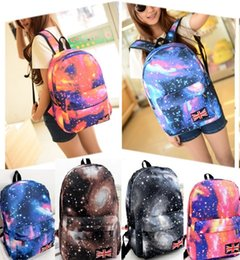 Shiny weave online shopping - 42 cm Shiny Polyester Starry Tide Bag Japanese Harajuku Korean Canvas Couple Shoulder Bag Star Handbag Unisex Large Capacity Backpack B256