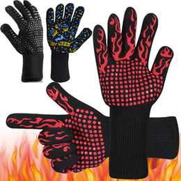 BBq glove online shopping - 500 Celsius Heat Resistant Gloves Great For Oven BBQ Baking Cooking Mitts In Insulated Silicone BBQ Gloves Kitchen Tools Style WX9