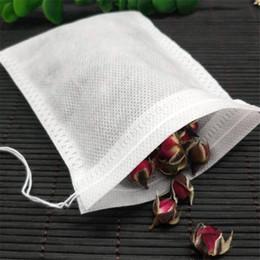100 Pz / pacco Teabags 5,5 x 7 cm tessuto vuoto profumato bustine di tè con string heal sigillo filtro per erba allentato tè bolsas in Offerta