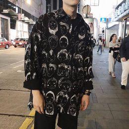 Long Shirt Men Fashion Australia - Hip Hop Shirts Men Japanese Streetwear Casual Print Shirt Male Summer Spring Fashion 2019 Harajuku Long Sleeve Hawaiian Shirts